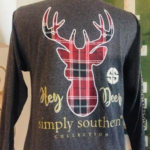 """SALE 🦌 NWT Simply Southern """"Hey Deer"""" Tee"""
